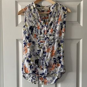 Sleeveless floral print blouse from ModCloth